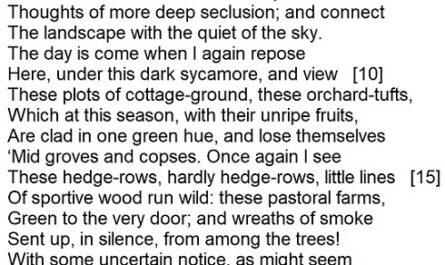 William Wordsworth - Tintern Abbey (excerpt)